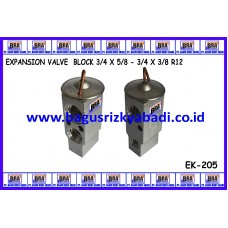 EXPANSION VALVE BLOCK 3/4 X 5/8 - 3/4 X 3/8 R12