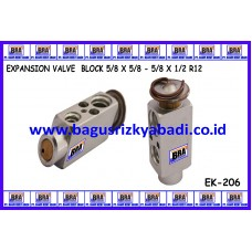 EXPANSION VALVE BLOCK 5/8 X 5/8 - 5/8 X 1/2 R12