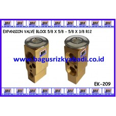 EXPANSION VALVE BLOCK 5/8 X 5/8 - 5/8 X 3/8 R12