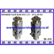 EXPANSION VALVE BLOCK 5/8 X 1/2 - 3/4 X 3/8 R12