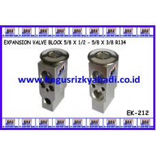 EXPANSION VALVE BLOCK 5/8 X 1/2 - 5/8 X 3/8 R134