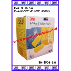 EAR PLUG EA-RSOFT YELLOW NEON 3M
