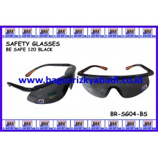 SAFETY GLASSES-BE SAFE 120 BLACK