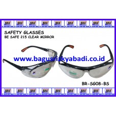 SAFETY GLASSES-BE SAFE 215 CLEAR MIRROR